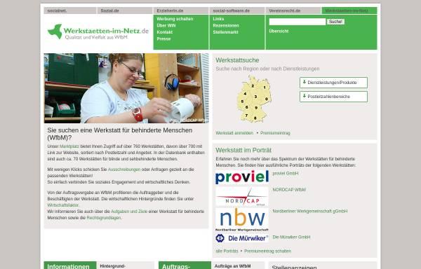 Vorschau von www.werkstaetten-im-netz.de, Werkstätten im Netz