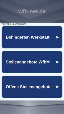 Vorschau der mobilen Webseite www.wfb-net.de, WfB-net.de