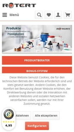 Vorschau der mobilen Webseite www.rotert.com, H. Hermann Rotert GmbH & Co. KG