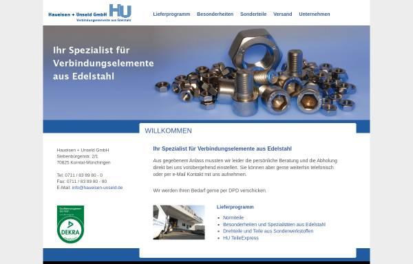Vorschau von www.haueisen-unseld.de, Haueisen + Unseld GmbH