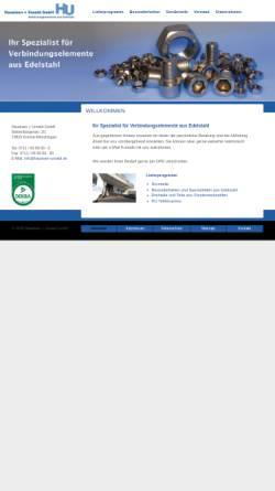 Vorschau der mobilen Webseite www.haueisen-unseld.de, Haueisen + Unseld GmbH