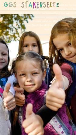 Vorschau der mobilen Webseite www.stakerseite.de, Grundschule Stakerseite - städtische Gemeinschaftsgrundschule