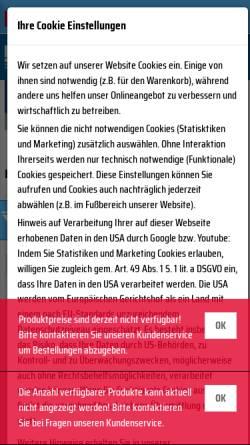 Vorschau der mobilen Webseite www.henka.de, Henka GmbH