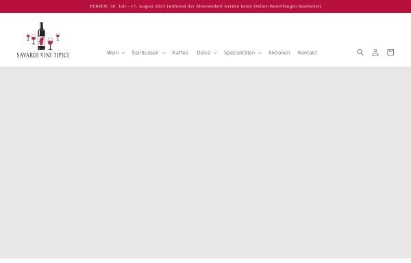 Vorschau von www.savardivini.ch, Savardi Vini Tipici GmbH