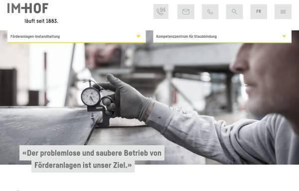 Vorschau von www.im-hof.ch, Im-Hof + Cie AG
