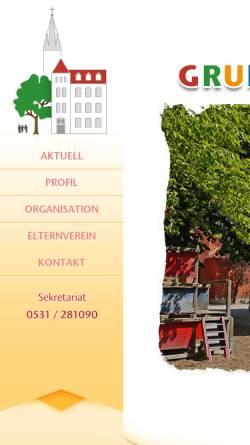 Vorschau der mobilen Webseite www.gs-st-josef.de, Grundschule St. Josef