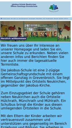 Vorschau der mobilen Webseite www.jakobusschule.de, Jakobus-Schule Gemeinschaftsgrundschule Neukirchen