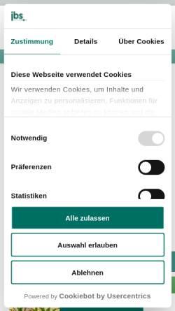 Vorschau der mobilen Webseite jbs.gmbh, Joachim Behrens Scheessel GmbH