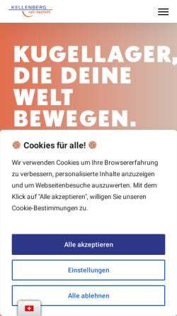 Vorschau der mobilen Webseite www.kellenberg.ch, Kellenberg Roll-Technik AG