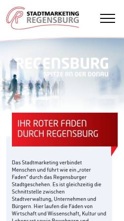 Vorschau der mobilen Webseite www.stadtmarketing-regensburg.de, Stadtmarketing-Regensburg e.V.