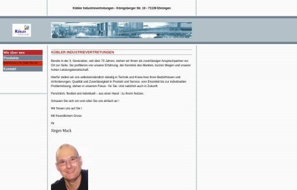Vorschau von www.kuebler-vertretungen.de, Kübler Industrievertretung