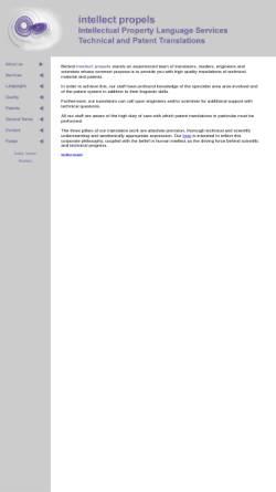 Vorschau der mobilen Webseite www.intellect-propels.com, Intellectual Property Language Services, Inh. Gudrun Kopp