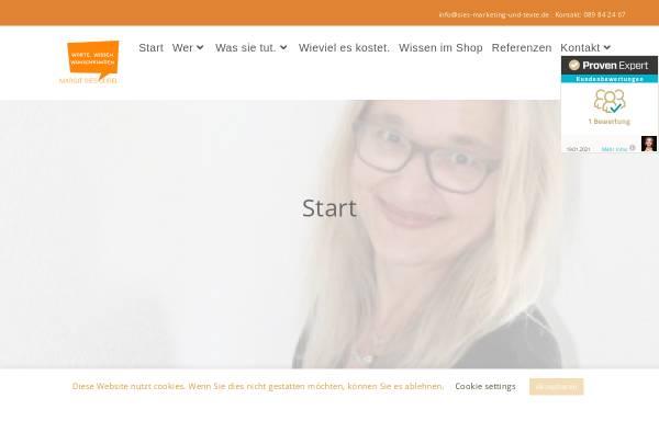 Vorschau von www.sies-marketing-und-texte.de, Sies-Gurel, Margit