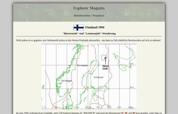 Vorschau von www.explorermagazin.de, Finnland 94 [Kurt und Irmi Gradolph]