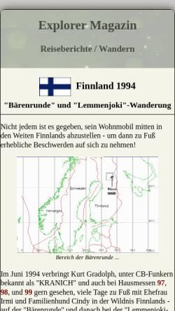 Vorschau der mobilen Webseite www.explorermagazin.de, Finnland 94 [Kurt und Irmi Gradolph]