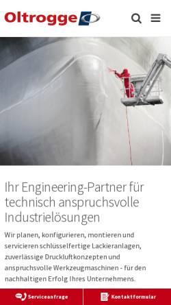 Vorschau der mobilen Webseite www.oltrogge.de, Oltrogge & Co.
