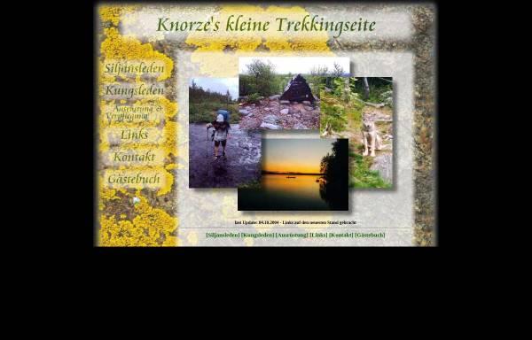Vorschau von www.knorze.de, Trekking am Siljansleden und Kungsleden