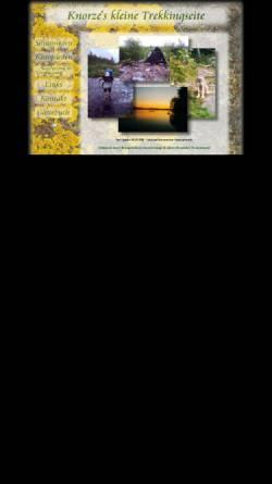 Vorschau der mobilen Webseite www.knorze.de, Trekking am Siljansleden und Kungsleden