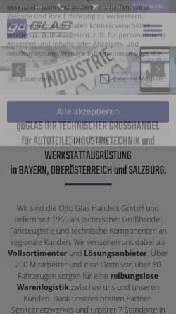 Vorschau der mobilen Webseite www.go-glas.de, Otto Glas Handels-GmbH