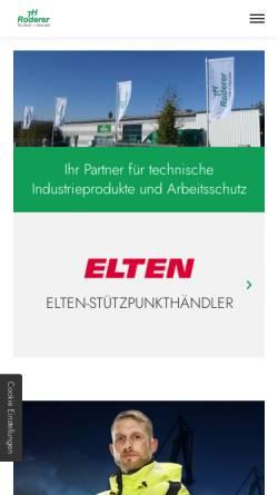 Vorschau der mobilen Webseite www.roderer.net, Rokö Roderer GmbH
