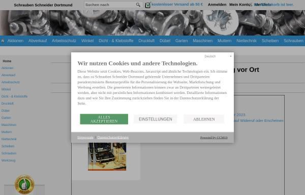 Vorschau von www.befestigungstechnik-schneider.de, Udo Schneider Befestigungstechnik