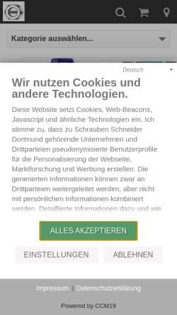 Vorschau der mobilen Webseite www.befestigungstechnik-schneider.de, Udo Schneider Befestigungstechnik