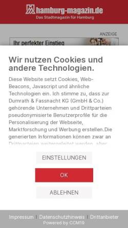 Vorschau der mobilen Webseite www.hamburg-magazin.de, Hamburg Magazin