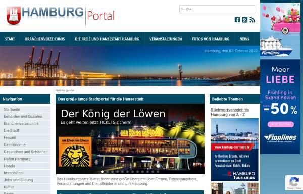 Vorschau von www.hamburgportal.de, Hamburg Portal