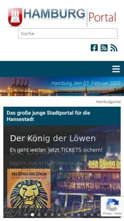 Vorschau der mobilen Webseite www.hamburgportal.de, Hamburg Portal