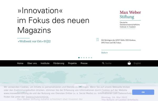 Vorschau von www.stiftung-dgia.de, Stiftung Deutsche Geisteswissenschaftliche Institute im Ausland (DGIA)