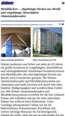 Vorschau der mobilen Webseite www.dobner.net, Dobner Building Systems GmbH