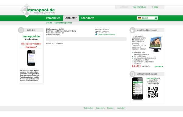 Vorschau von www.immopool.de, HN Baupartner