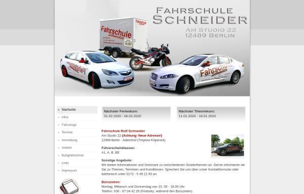 Vorschau von www.fahrschule-rolf-schneider.de, Fahrschule Rolf Schneider