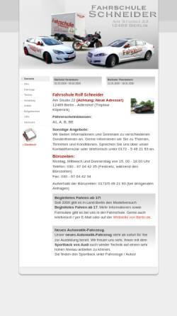 Vorschau der mobilen Webseite www.fahrschule-rolf-schneider.de, Fahrschule Rolf Schneider