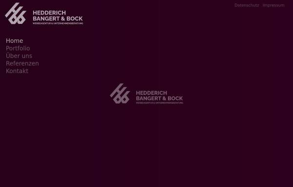 Vorschau von www.hbundb.de, Hedderich, Bangert & Bock - Werbeagentur und Unternehmensberatung GmbH
