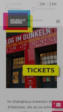 Vorschau der mobilen Webseite www.dialog-im-dunkeln.de, Dialog im Dunkeln