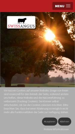 Vorschau der mobilen Webseite www.swissangus.ch, Vereinigung der Schweizer Anguszüchter