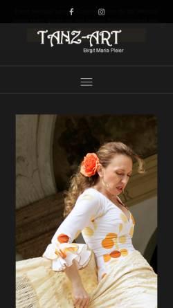 Vorschau der mobilen Webseite www.flamenco-landshut.de, Flamenco-Studio Birgit Maria Pleier