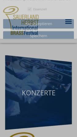 Vorschau der mobilen Webseite www.sauerland-herbst.de, Sauerland-Herbst