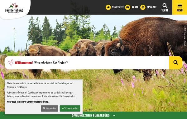 Vorschau von www.bad-berleburg.de, Bad Berleburg
