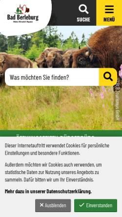 Vorschau der mobilen Webseite www.bad-berleburg.de, Bad Berleburg