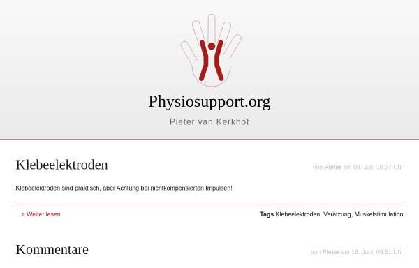 Vorschau von www.physiosupport.org, Physiosupport, Pieter van Kerkhof