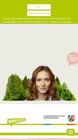 Vorschau der mobilen Webseite www.wald-und-holz.nrw.de, Landesbetrieb Wald und Holz Nordrhein-Westfalen