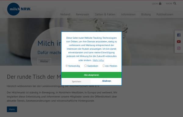 Vorschau von milch-nrw.de, Landesvereinigung der Milchwirtschaft NRW e.V.