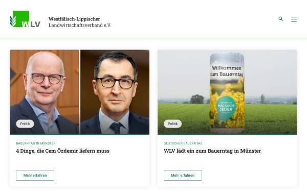 Vorschau von www.wlv.de, Westfälisch-Lippischer Landwirtschaftsverband e.V