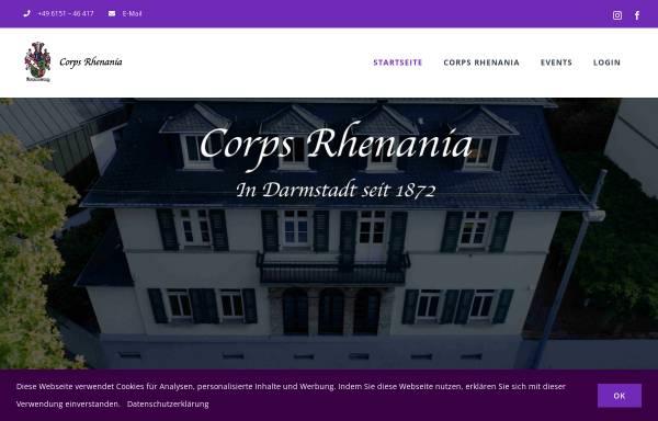 Vorschau von www.rhenania-darmstadt.de, Corps Rhenania zu Darmstadt