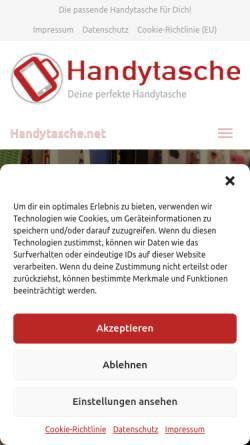 Vorschau der mobilen Webseite www.handytasche.net, Y-Com Kommunikationssysteme