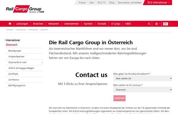 Vorschau von www.railcargo.at, ÖBB Rail Cargo Austria