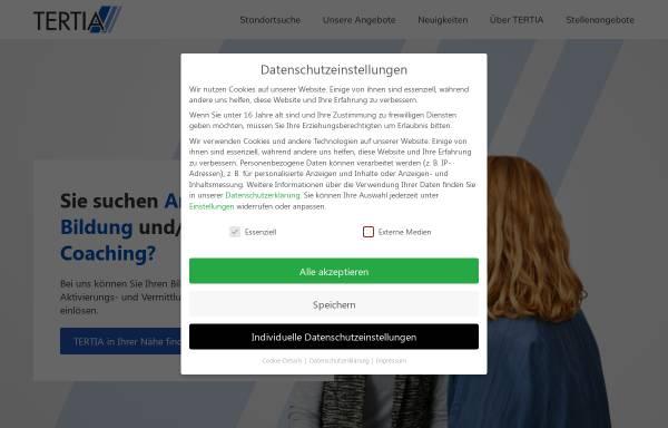 Vorschau von www.tertia.de, Lehranstalt für Logopädie der TERTIA-Gruppe