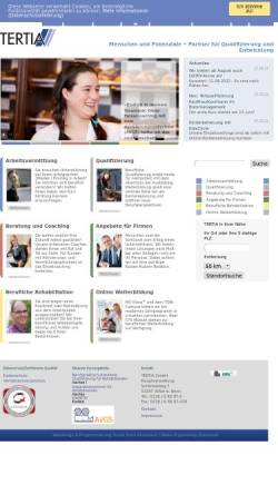 Vorschau der mobilen Webseite www.tertia.de, Lehranstalt für Logopädie der TERTIA-Gruppe